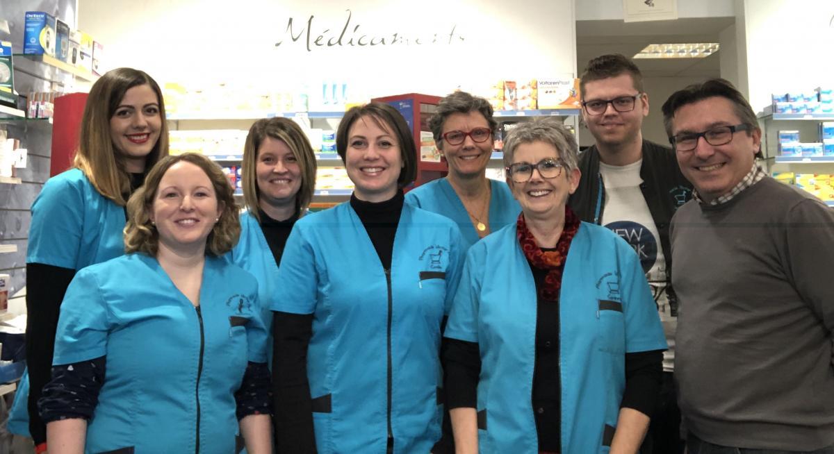 L'équipe de la pharmacie Victor Hugo à Givors