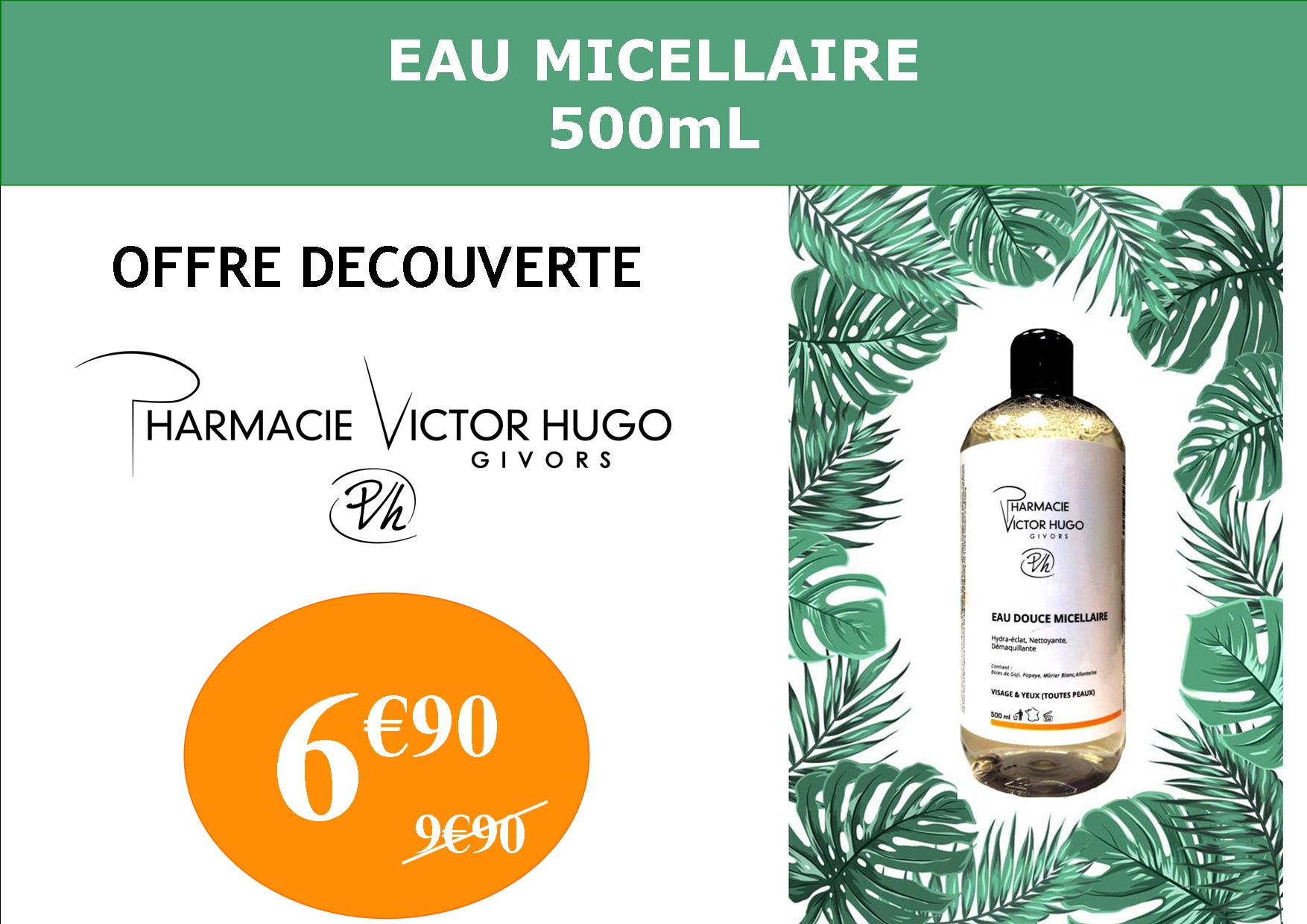 eau micellaire skinclever gamme victor hugo