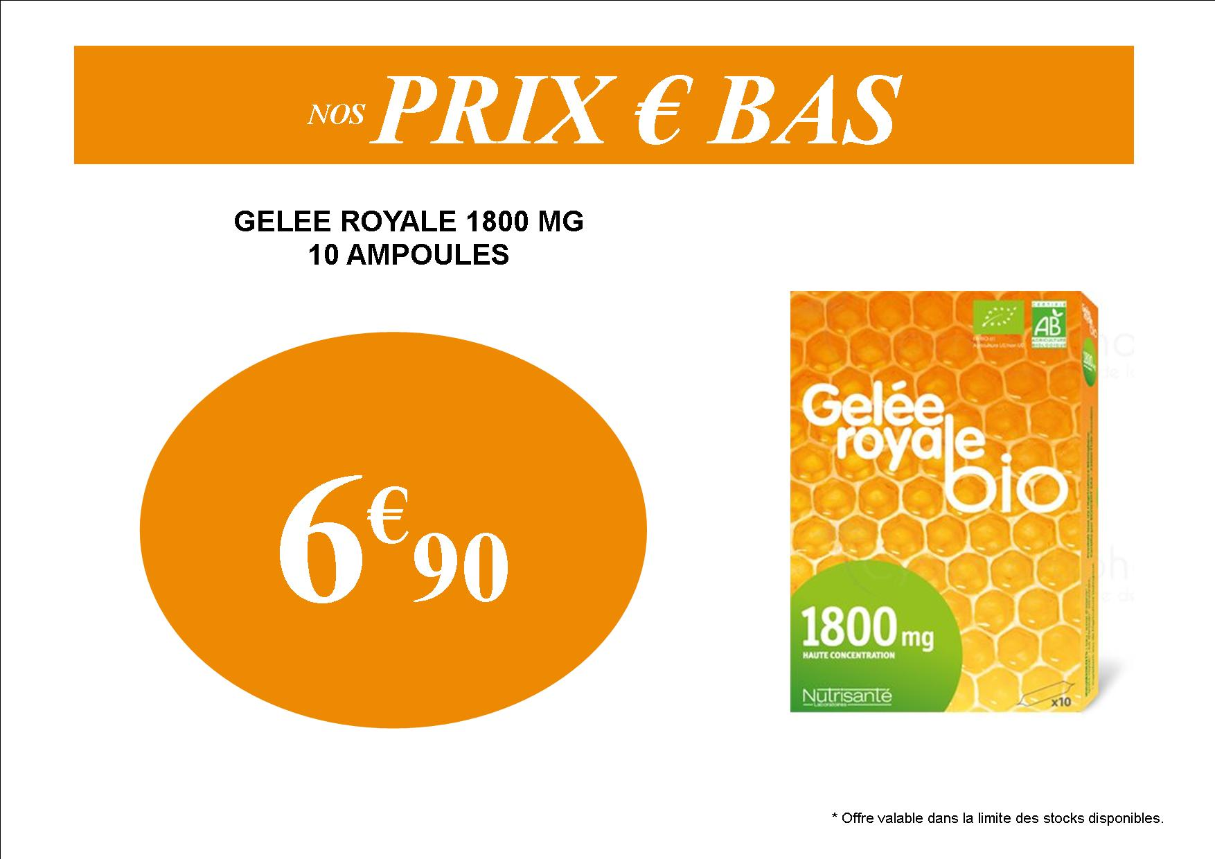 GELEE ROYALE PROMOTION PAS CHER 6.90€