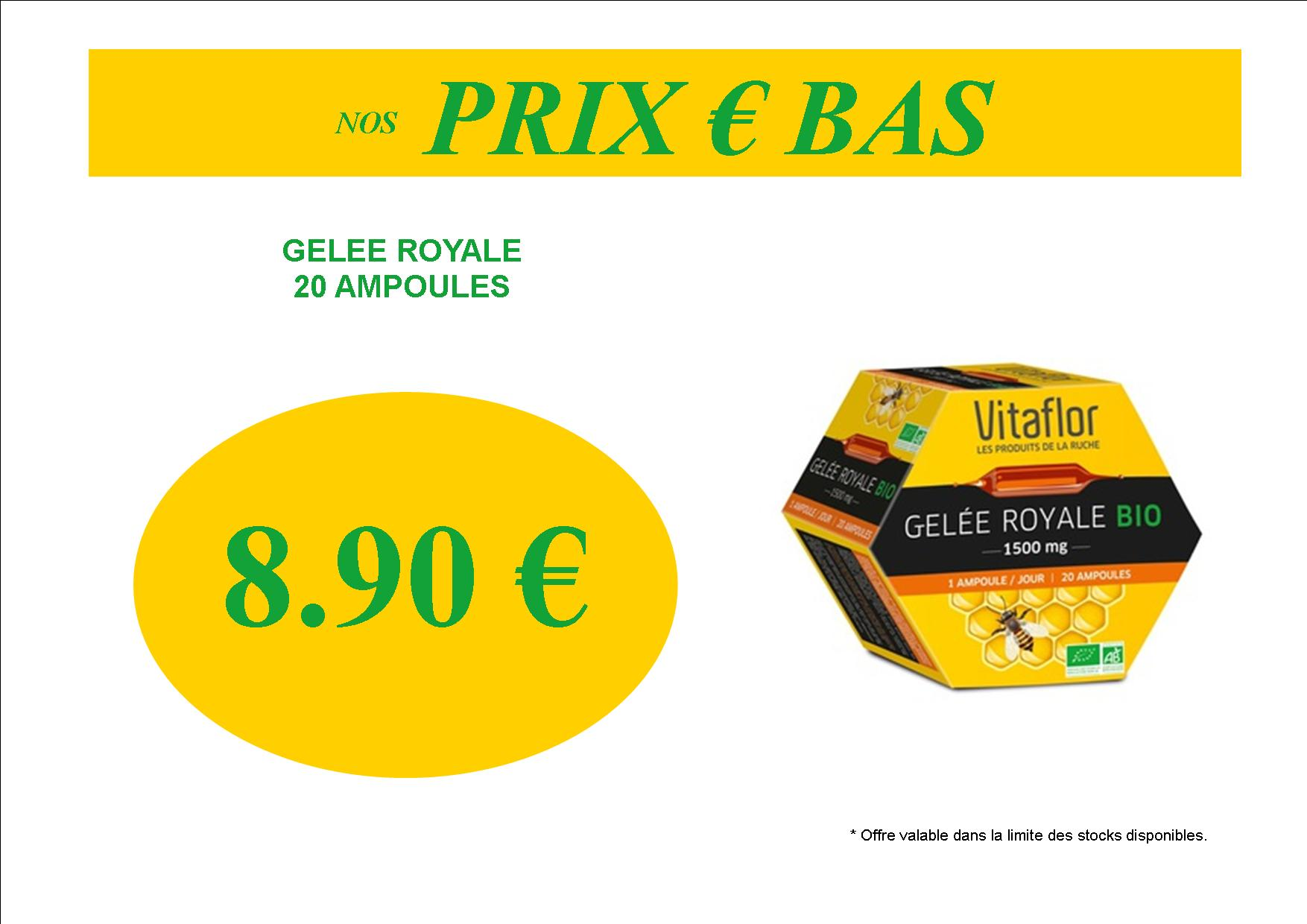 promotion gelee royale pas chere