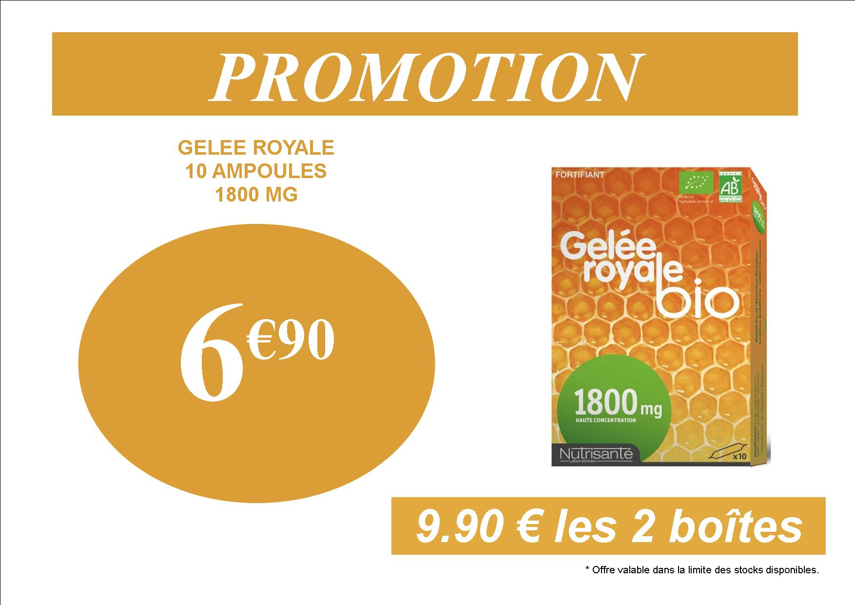 PROMOTION GELEE ROYALE PAS CHERE 6.90
