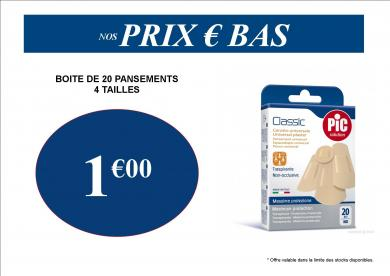 PANSEMENT PAS CHER 1€ PROMO