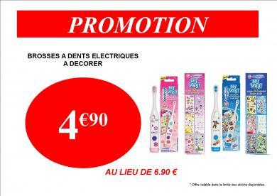 PROMOTION BROSSES A DENTS SPINBRUSH 4.90€