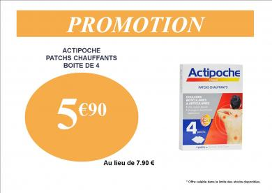 ACTIPOCHE PATCHS CHAUFFANTS PROMOTION 5.90€